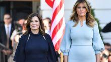 Melania Trump practices sartorial diplomacy while welcoming Australian Prime Minister