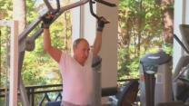 Putin works up a sweat