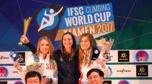 Escalade - CdM - Anouck Jaubert remporte le classement général de la Coupe du monde de vitesse 2017