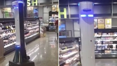 Shoppers hit out at 'creepy' Woolworths robot