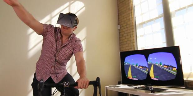 PaperDude VR resurrects Paperboy with Oculus Rift, Kinect, KickR and a bike