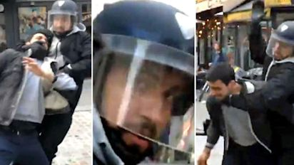 Macron fires aide who stamped on protester