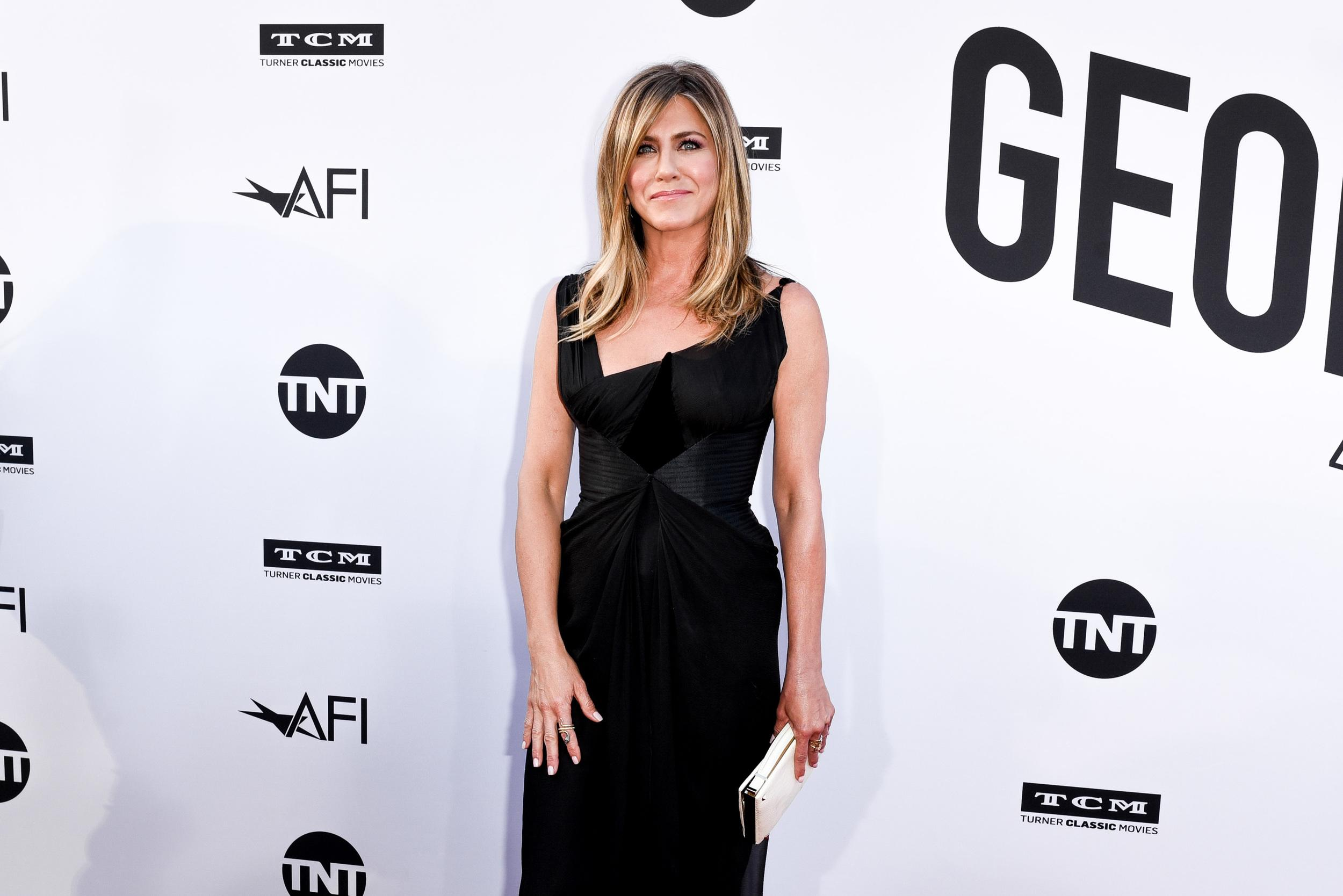 HOLLYWOOD, CA - JUNE 07:  Jennifer Aniston attends 46th AFI Life Achievement Award Gala Tribute on June 7, 2018 in Hollywood, California.  (Photo by Presley Ann/Patrick McMullan via Getty Images)