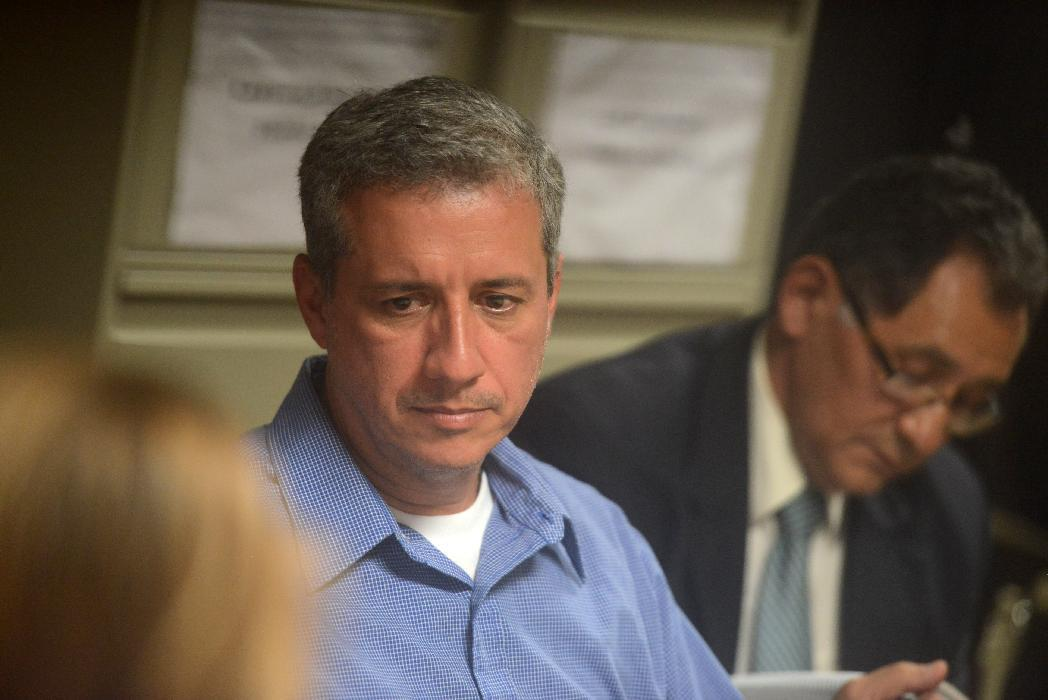 IHSS former director Mario Zelaya speaks in court on September 9, 2014 in Tegucigalpa