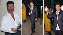 Simon Cowell's suit hangs off him as he displays dramatic 1.4-stone weight loss