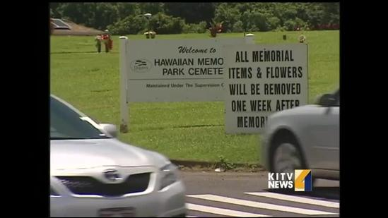 Troops clean graves at Hawaii State Veterans' cemetery