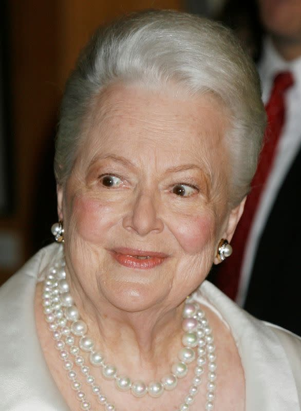 FILE PHOTO: Actress Olivia de Havilland arrives for Academy tribute in Beverly Hills