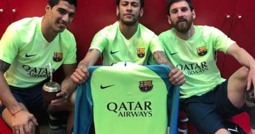 Foot - WTF - La MSN refait la célébration de Lionel Messi lors du Clasico dans le vestiaire