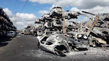 Hundreds of cars destroyed in overnight blaze at scrapyard