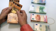 Euro steadies as surveys hint at economic recovery