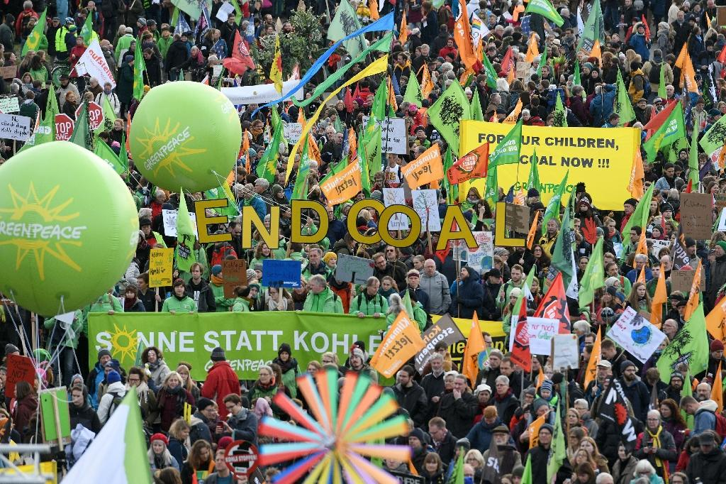 Thousands marched in Berlin and Cologne to pressure the German government to phase out coal from energy production