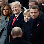 Putin and President Trump: Smiles and a Thumbs Up at Paris World War I Commemoration