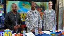 Sherrod Small Competes in Hotdog Eating Contest