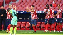 Luis Suárez debuta con doblete y asistencia en el Atlético de Madrid