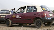 A nineties Japanese mini car is the unlikely taxi of choice in one of Nigeria's biggest cities