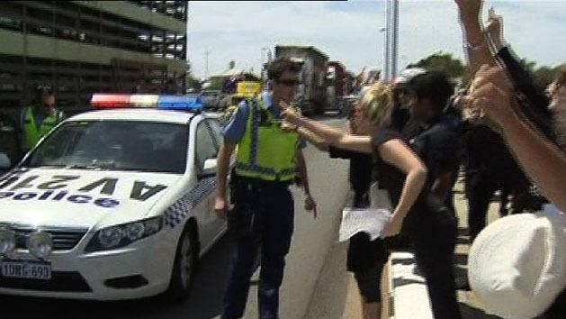 Dramatic live export protests