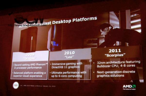 Next-gen AMD Scorpius and Lynx desktop platforms leak out, Fusion still coming in 2011