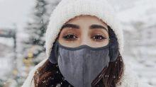 Mit dieser kuscheligen Maske kann der Winter kommen