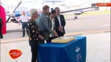 Harry and Meghan unveil new royal flying doctor service aircraft
