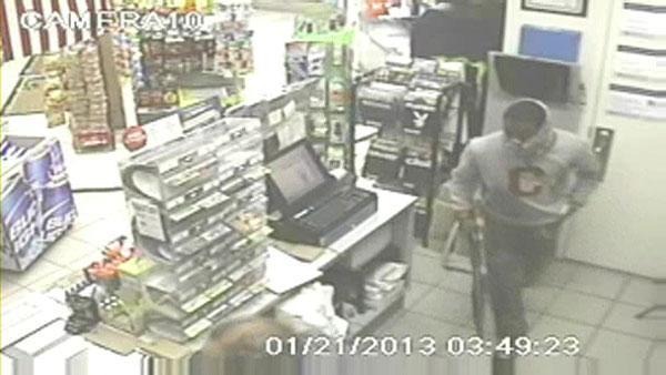 Food mart robbery caught on camera