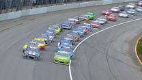 Busch, Johnson battle under new restart rule