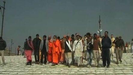 Foreign devotees take a holy dip at Maha Kumbh rn