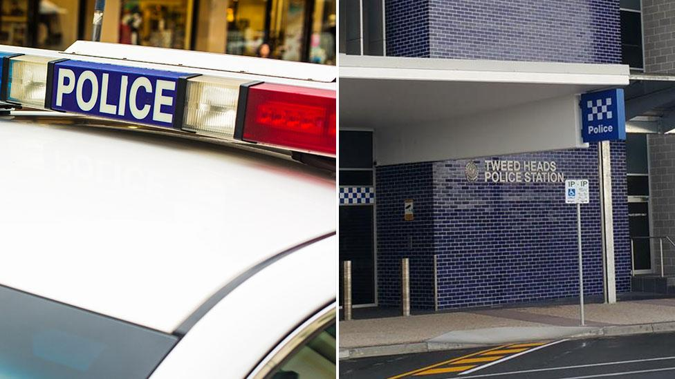 Stolen car strikes police officer on north-east NSW