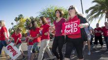 'Our Schools Deserve More!' - Arizona, Colorado teachers in walkouts