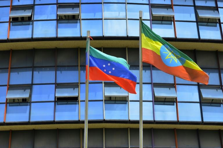 The Sidama -- who number more than three million -- have agitated for years to leave the diverse Southern Nations, Nationalities, and Peoples' Region. Its unofficial flag is green, blue and red. (AFP Photo/Michael TEWELDE)