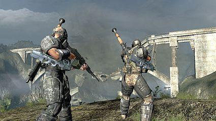 New Army of Two screenshots: Destructible environment + vehicles