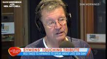 Symons' touching tribute