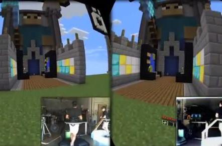 Minecraft meets Omni virtual reality rig, PC game gets new launcher