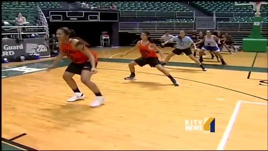 Teens participate in Rainbow Wahine Basketball Camp