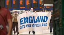 English told to 'get out of Scotland' by protesters at Glasgow Central station