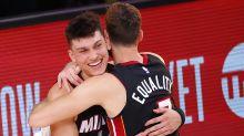Tyler Herro's career night pushes Miami Heat to brink of NBA Finals