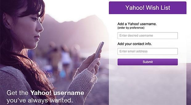 Yahoo launches wish list for requesting inactive usernames
