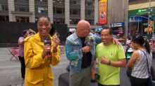 Howie Mandel and Keke's Times Square talent search