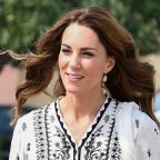 Kate Middleton Wears a Black-and-White Kurta on the Final Day of the Royal Tour of Pakistan