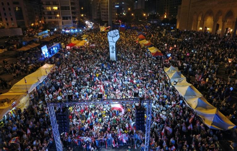 Lebanon's protests have persisted for four weeks, with thousands regularly filling Beirut's central Martyrs' Square