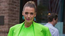 Blake Lively Just Stepped Out in a Neon Green Versace Suit, and It'll Make Your Jaw Drop