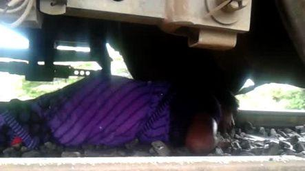 Mentally ill woman attempts suicide on rail track, rescued
