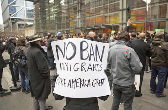 Comcast employees around the US protest Trump's immigration ban