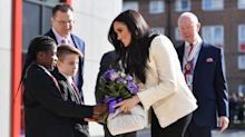 Meghan Markle says all women have 'right to speak up' as she shares new unseen pics from school visit