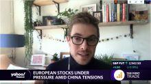 European stocks under pressure amid China tensions