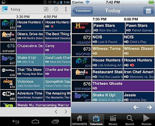 Ceton Companion apps for iOS and Android are available, bring WMC mobile control for $5