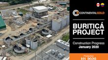 Continental Gold Provides Buriticá Project Construction Update