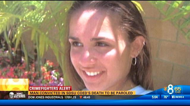 Man convicted in SDSU coed's death to be paroled