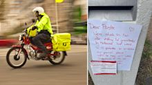Australia Post driver praised for helping self-isolating couple