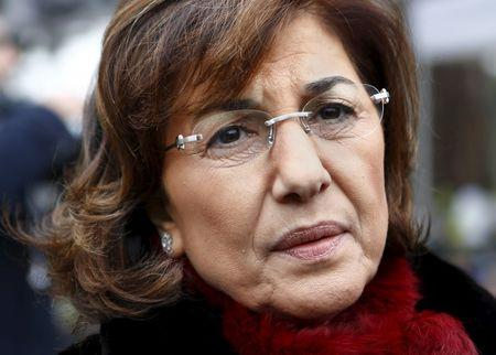 Bouthaina Shaaban, advisor to Syrian President Bashar al-Assad speaks to the media after a meeting at the Geneva Conference on Syria at the United Nations European headquarters in Geneva in this January 30, 2014 file photo. REUTERS/Denis Balibouse/Files
