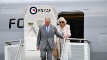 Prince of Wales and Duchess of Cornwall arrive in New Zealand for tour